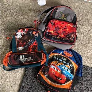 3 boy backpacks